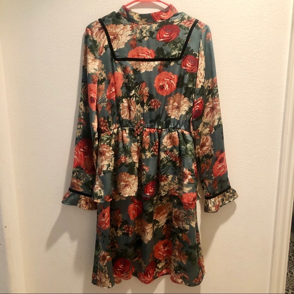 ASOS Dresses & Skirts - ASOS Floral Ruffle Longsleeve Dress